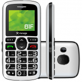 Celular Mirage 61F Dual Chip Tela 1.8´´ Camera Mp3 Radio Fm Bluetooth E Usb Branco 1101
