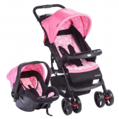 Travel System Moove Rosa Trama - Cosco - Mkp000327000272