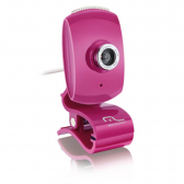 Webcam Multilaser Facelook Com Microfone Usb Rosa Wc048 - Mkp000278000870
